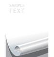 paper corner bended vector image vector image