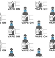 pattern emblem of the electronic cigarette vector image vector image