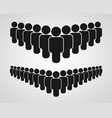 people group icon on the white background vector image vector image