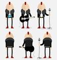 Punk musician vector image vector image