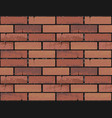 red brick wall seamless texture background vector image