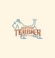 scottish terrier logo vector image