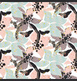 seamless pattern with bold pastel flowers with vector image
