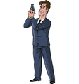 secret agent with gun vector image
