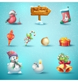 set festive items for christmas and new year vector image