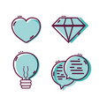 set linear flat design icons vector image vector image