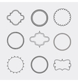 Set of Label and decoration icon Hand draw design vector image vector image