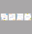 set trendy abstract square art templates with vector image vector image