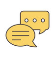 sms message chat social media icon vector image vector image