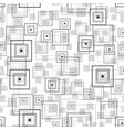 square rectangle seamless pattern sketch vector image