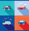 stylish car icon set modern flat design style vector image