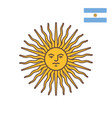 symbol of argentina - sun of may vector image