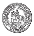 the seal of the confederate states vintage vector image vector image