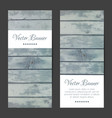 vertical banners cards set wood planks vector image vector image