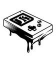 vintage monochrome pocket console concept vector image