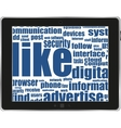 Business and social words vector image