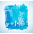 Blue watercolor square design element vector image