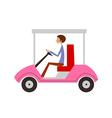man sitting in car vector image