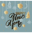 Happy New Year background with stars balls noel vector image