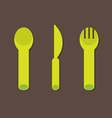 Knife Fork Spoon vector image