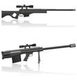 sniper rifle 03 vector image