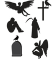 death icons vector image