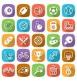 Flat sport and game trendy icons with shadow vector image