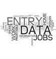 a guide to find lucrative data entry jobs text