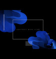 abstract background flowing blue liquid vector image