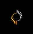 abstract circle science technology logo vector image