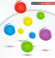abstract colorful circle background vector image vector image