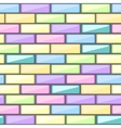 Abstract pattern with colorful brick elements vector image vector image