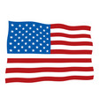 american national flag vector image vector image