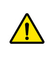 attention sign or warning caution exclamation vector image vector image