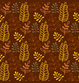 autumn leaves background in warm colors seamless vector image vector image