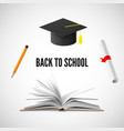 Back to school banner education and knowledge