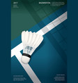 badminton championship poster vector image