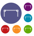 barrier icons set vector image vector image