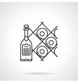 Black line icon for wine vector image