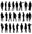 Black silhouettes of beautiful mans and womans on vector image