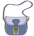blue ladies handbag vector image vector image