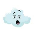 cartoon cloud with a face vector image