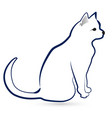 cat silhouette icon design vector image