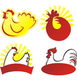 Chicken sign vector image