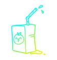 cold gradient line drawing apple juice box