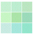 collection of mint backgrounds with dots vector image vector image