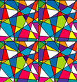 Colorful mosaic seamless with geometrical shapes vector image vector image