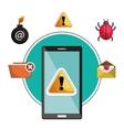 concept virus smartphone warning design vector image vector image