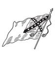 confederate national flag - no 2 vintage vector image