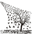 Crows on a tree in winter vector image